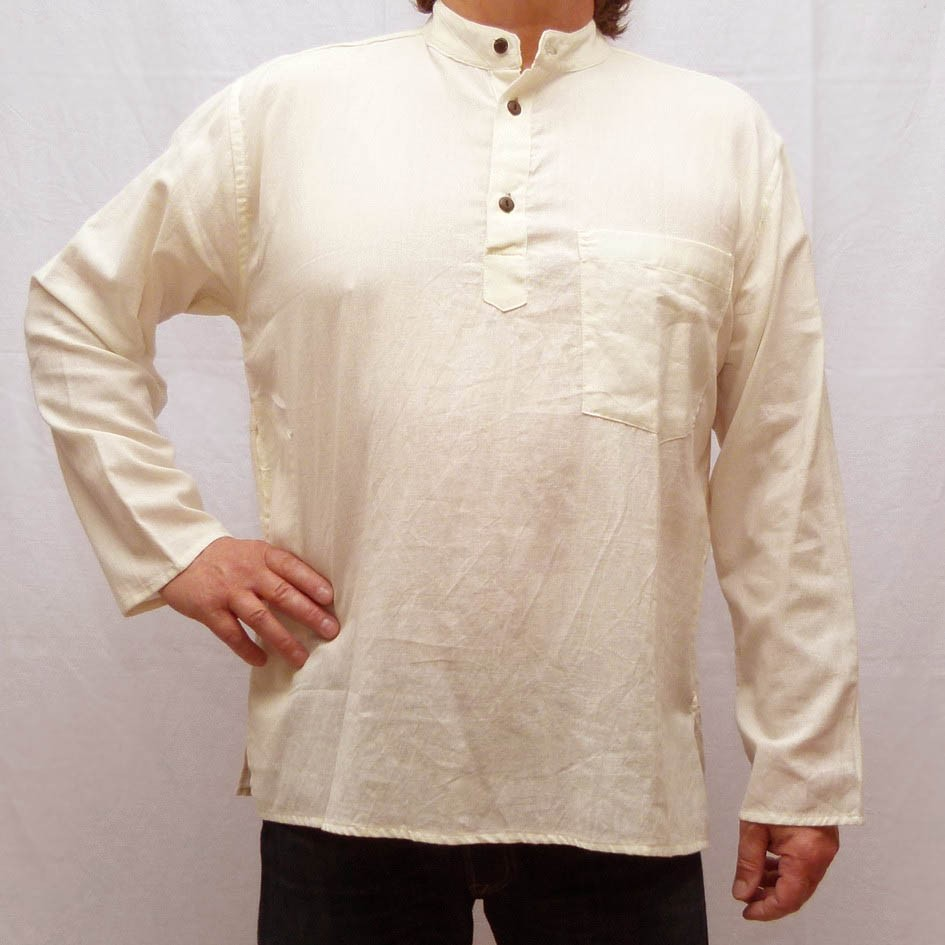 Chemise Indienne Nepal Ethnique Col Mao Homme Pas Cher Karnabi