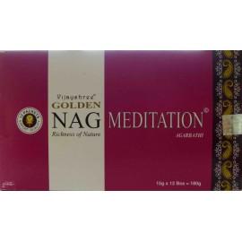 Boite encens Golden Nag Meditation