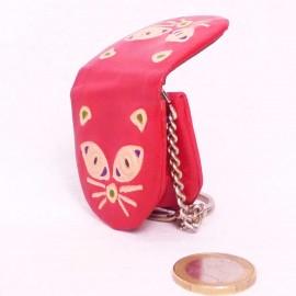 Porte-clés,porte-monnaie Macha chat rouge