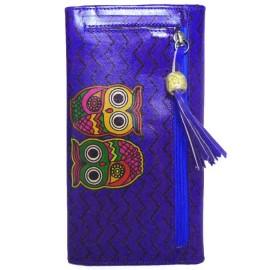Porte-chéquier Macha chouettes violet