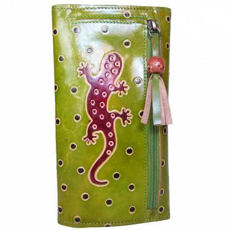 Porte-chéquier Macha Gecko anis