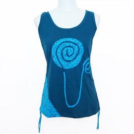 Tee shirt Spirale new bleu pétrole