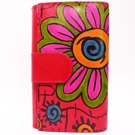 Portefeuille Macha Saya fleur rouge