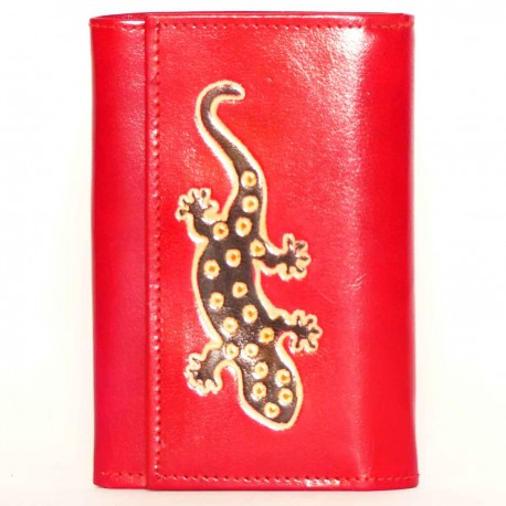 Portefeuille Macha gecko rouge