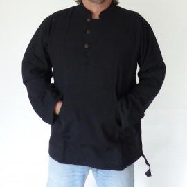 Chemise Makalu coton noire