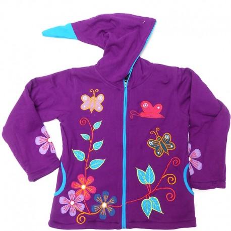 Veste ethnique enfant Lilou violette