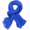 Chèche coton Macha bleu