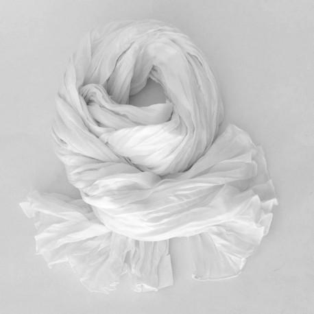 Chèche coton Macha blanc