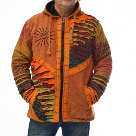 veste ethnique Pangy orange