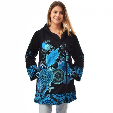 Manteau Ethnique Amigo bleu