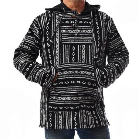 Poncho ethnique noir