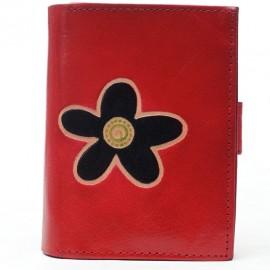 Portefeuille Macha fleur rouge 2