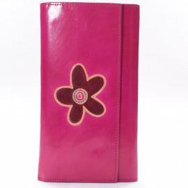 Porte-chéquier Macha gecko rose