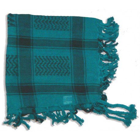 Keffieh Macha coton turquoise