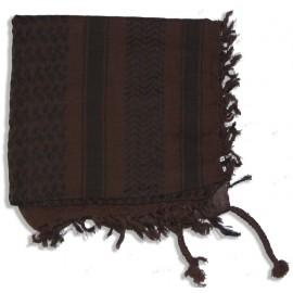 Keffieh Macha coton choco