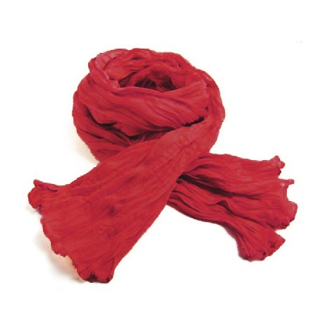 Chèche coton Macha rouge