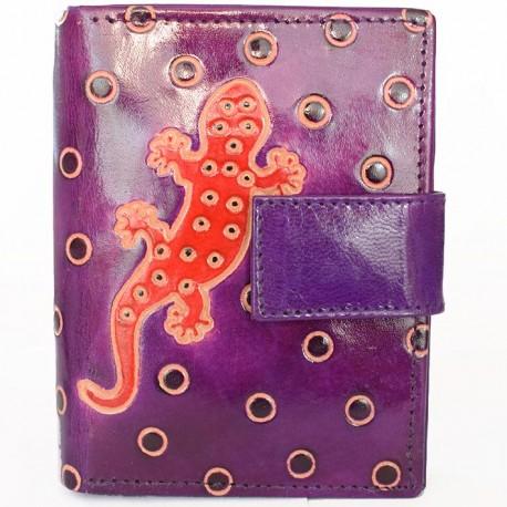 Portefeuille Macha gecko violet