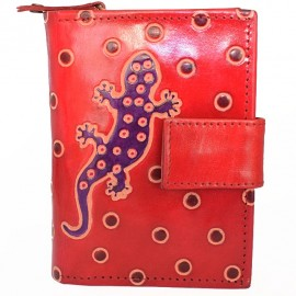 Portefeuille Macha gecko rouge
