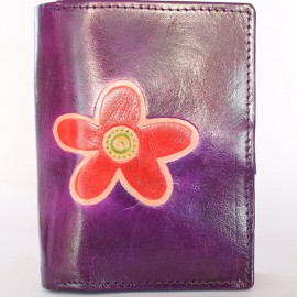 Portefeuille Macha fleur violet