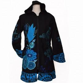 Manteau Ethnique Amigo 2 bleu