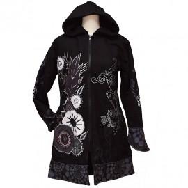 Manteau Ethnique Amigo 2 gris
