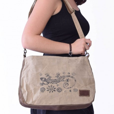 Sac ethnique Macha Lunch beige