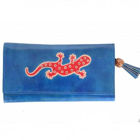 Porte-chéquier Macha gecko bleu3