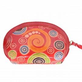 Porte monnaie Macha Aria spirale rouge