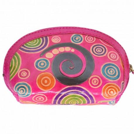 Porte monnaie Macha Aria spirale rose
