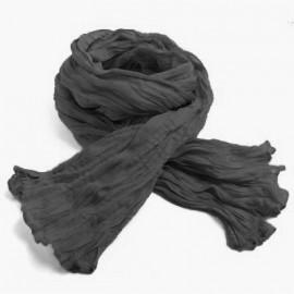 Chèche coton Macha gris foncé