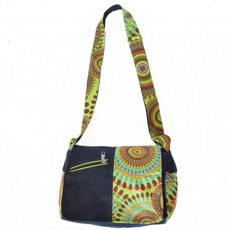 Sac ethnique Sumba vert