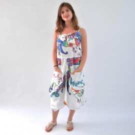 Robe sarouel Jasyprint blanche2
