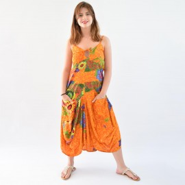 Robe sarouel Jasyprint orange