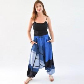 Sarouel ethnique Tinga bleu 2
