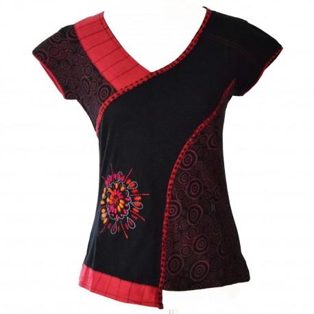 T-shirt ethnique Manoï rouge