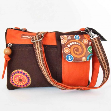 Sac Macha Kanpur choco et orange XL