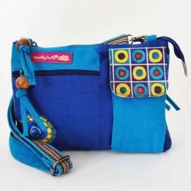 Sac Macha Kanpur bleu et turquoise XL