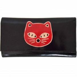 Porte-chéquier Macha chat noir