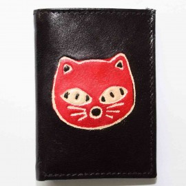 Porte cartes noir chat