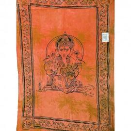 Tenture tie and dye Ganesh orange2