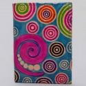Porte cartes Macha spirales bleu
