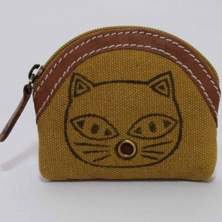 Porte monnaie Macha Badoo beige chat