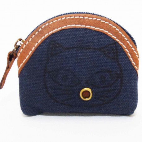 Porte monnaie Macha Badoo bleu chat