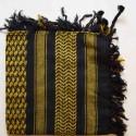 Keffieh Macha coton jaune et noir