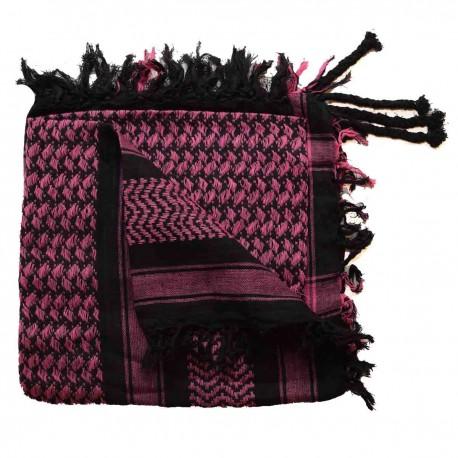 Keffieh Macha coton rose et noir