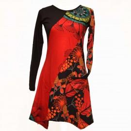Robe ethnique jala rouge