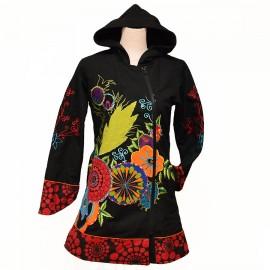Manteau Ethnique Amigo rouge/vert
