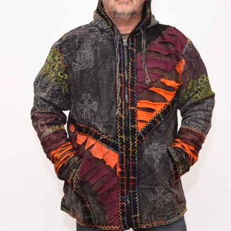 veste ethnique Pangy grise2