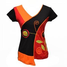 T-shirt ethnique Suzi rouge
