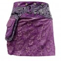 Jupe Portefeuille courte violette